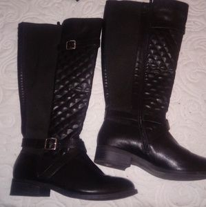 Shoes - Torrid quilted knee high boots size 10 wide calf